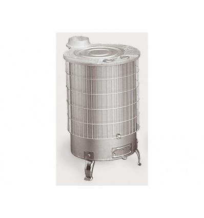 Poêle à bois turbo sortie verticale - gamme mixte - Aluminium - 15 Kw