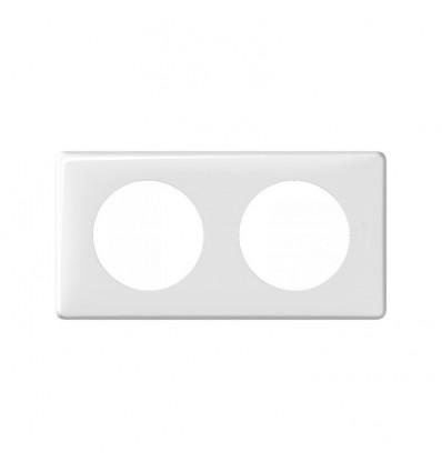 Plaque Céliane Memorie 2 postes blanc Yesterday Legrand