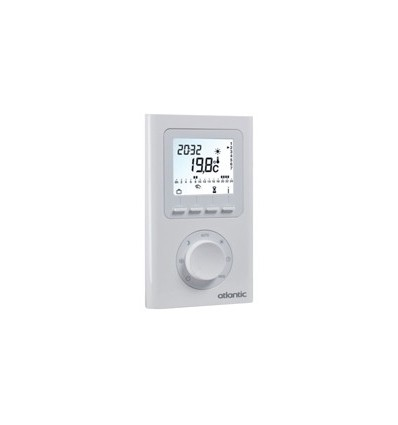 Thermostat d'ambiance électronique programmable radio Atlantic 073271
