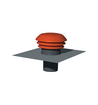 Chapeau de toiture plastique design D raccordement 150160 mm couleur tuile