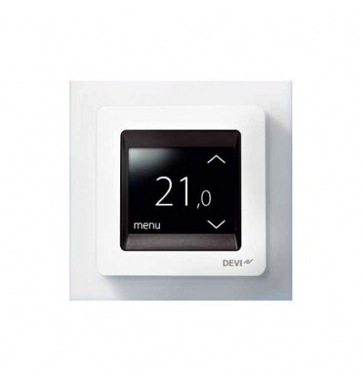 thermostat devireg touch deleage blanc pour plancher chauffant. Black Bedroom Furniture Sets. Home Design Ideas