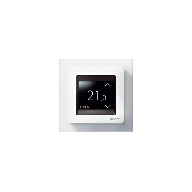 Thermostat devireg touch deleage blanc pour plancher chauffant - Thermostat plancher chauffant electrique ...