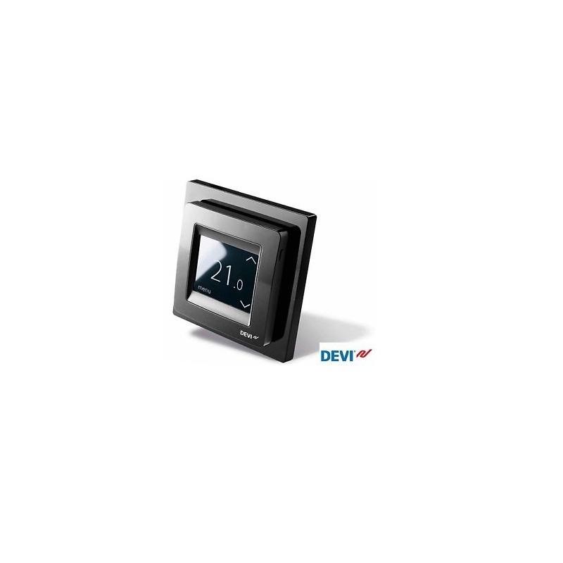 Thermostat devireg touch deleage noir pour plancher chauffant - Thermostat plancher chauffant electrique ...