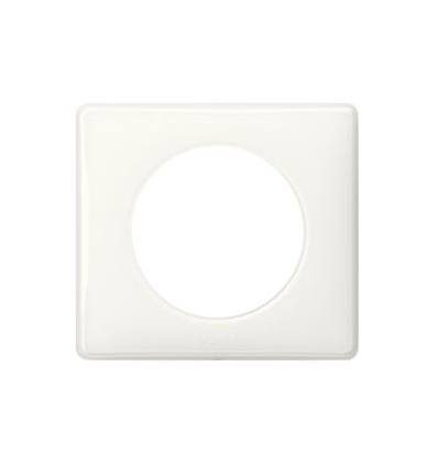 Plaque Céliane Laqué 1 poste finition Yesterday blanc