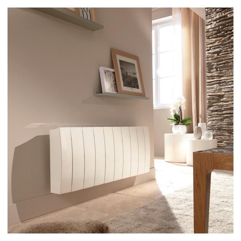 radiateur atlantic galapagos 1400w horizontal blanc avec pilotage distance. Black Bedroom Furniture Sets. Home Design Ideas