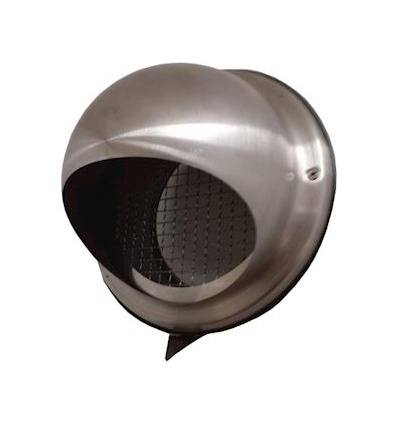 Prise dair ou sortie dair de façade semisphérique en acier inox D 160 mm