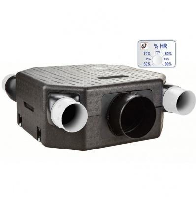 VMC DECO Flat DHU N avec sonde hygro - Caisson nu Unelvent 603125
