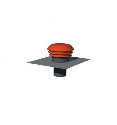Chapeau de toiture plastique CPR125 - 125 mm - Tuile Unelvent 876000