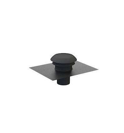 Chapeau de toiture plastique CPR160 - 160 mm - Ardoise Unelvent 876005