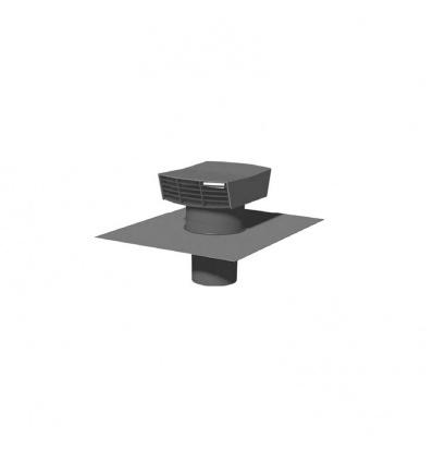 Chapeau de toiture plastique CT 125P - 125 mm - Ardoise Unelvent 873999