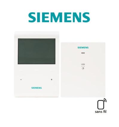Kit programmateur RF pour fil pilote 4 ordres et programme horaire 3 zones Siemens RDE100.1FPRFS