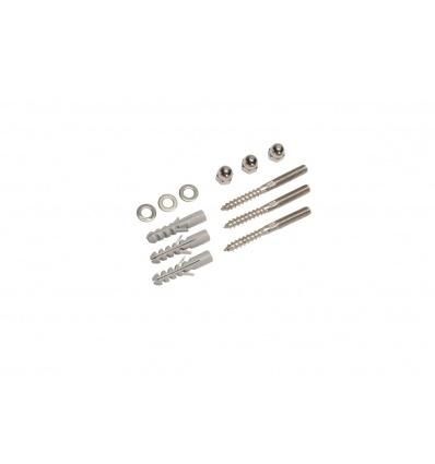 Accessoires de fixation, inox, filetage M8, écrous, chevilles et ronde