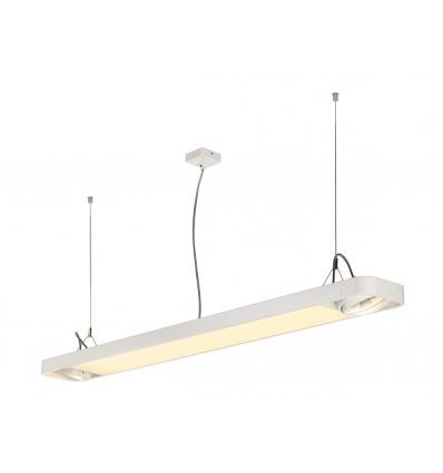 AIXLIGHT R2 OFFICE LED, susp, blanc, LED + 2xES111, max. 75W, 153cm