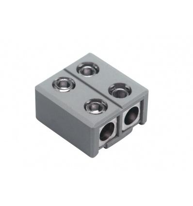 Alimentation et connecteur droit pour GLU-TRAX, gris, max. 20A
