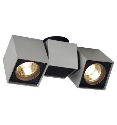 ALTRA DICE spot 2, plafonnier, gris argent noir, 2x GU10, max. 2x 50W