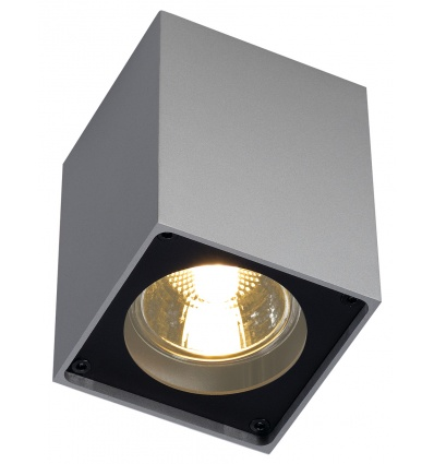 ALTRA DICE, plafonnier, carré, gris argent noir, GU10, max. 35W