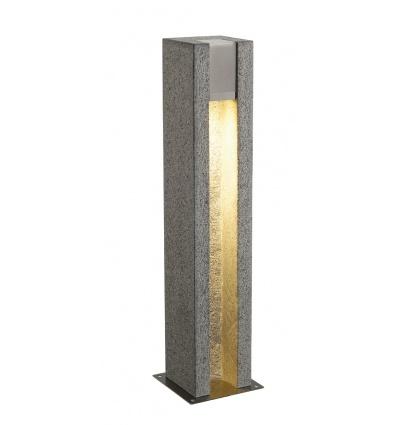 ARROCK SLOT GU10 borne, carrée, granit, poivre & sel, GU10, max,4W LED