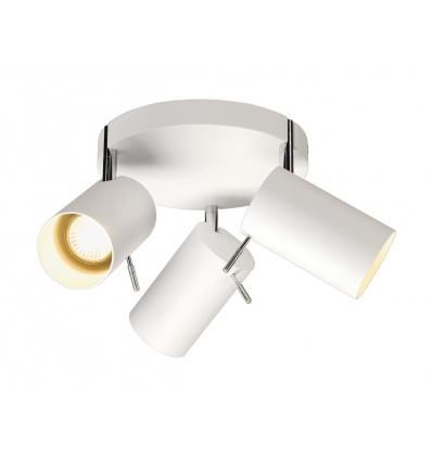 ASTO TUBE 3 ROND, applique, patère ronde, blanc, 3xGU10 50W max.