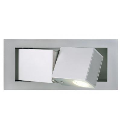 BEDSIDE droit, applique, gris argent, 3W LED, 3000K