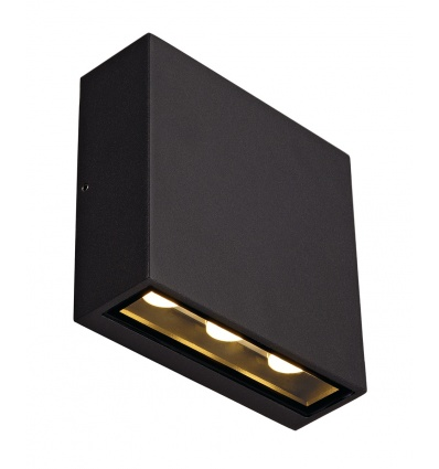 BIG QUAD applique, carrée, anthracite, 3x2W LED 3000K