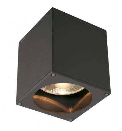 BIG THEO OUT plafonnier, carré, anthracite, ES111, max. 75W