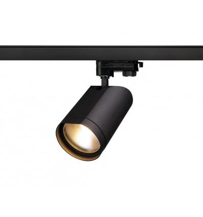 BILAS LED, spot rond, noir, LED 15W, 2700K, 60°, adapt. 3 all inclus