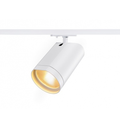 BILAS, spot rond, blanc, LED 15W, 2700K, 60°, adaptateur 1 all inclus