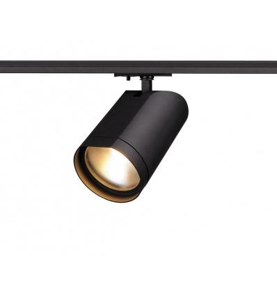 BILAS, spot rond, noir, LED 15W, 2700K, 60°, adaptateur 1 all inclus