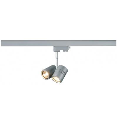 BIMA 2, spot, gris argent, 2x GU10, max. 50W, adaptateur 3 allumages i