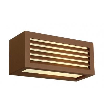BOX-L E27 applique, carrée, fonte rouillée, E27, max. 18W