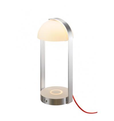 BRENDA LED, lampe à poser, blanc argent, chargement sans fil, 3000K