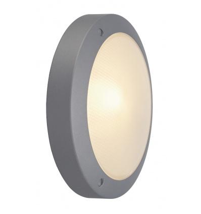 BULAN applique, ronde, gris argent, E14, max. 60W, verre satiné
