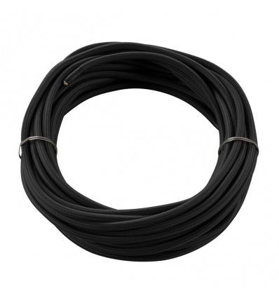 CABLE TEXTILE, 10m, noir, 3 pôles