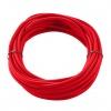 CABLE TEXTILE, 10m, rouge, 3 pôles