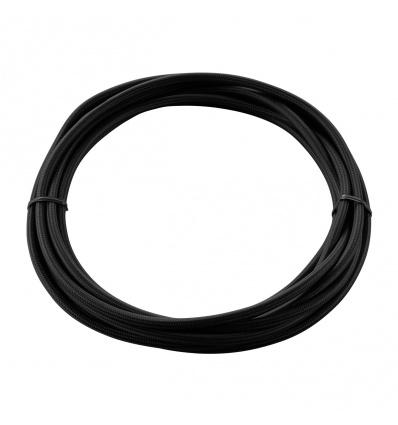 CABLE TEXTILE, 5m, noir, 3 pôles