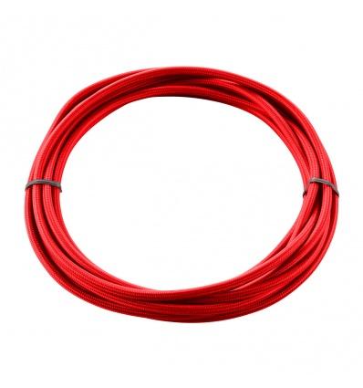 CABLE TEXTILE, 5m, rouge, 3 pôles