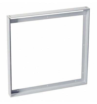 Cadre de montage pour 1-VIDUAL LED PANEL, 59,5x59,5cm, gris argent