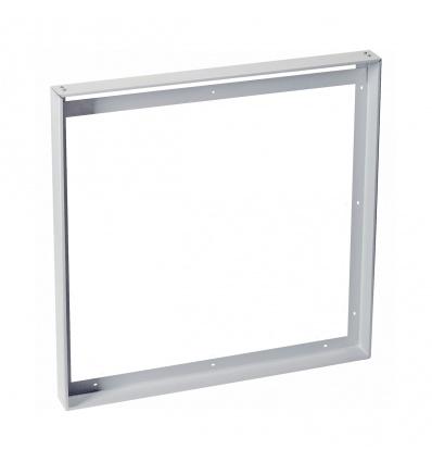 Cadre de montage pour 1-VIDUAL LED PANEL, 62x62cm, gris argent