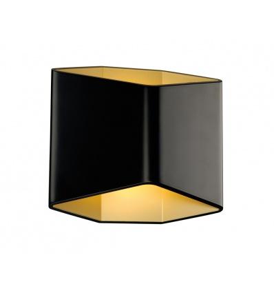 CARISO WL- 2, applique, noir laiton, LED 7,5W, 3000K