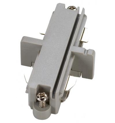 Connecteur droit pour rail 1 allumage 230V, gris argent, électrique