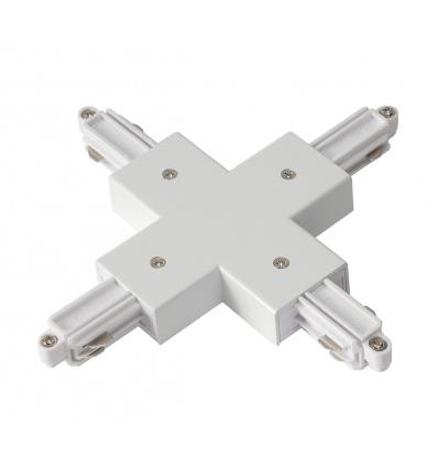 Connecteur en X pour rail 1 allumage 230V, blanc