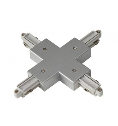 Connecteur en X pour rail 1 allumage 230V, gris argent