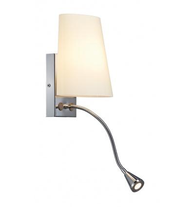 COUPA FLEX LED applique, chrome, verre satiné, 1xG9 max. 40W, 3W LED