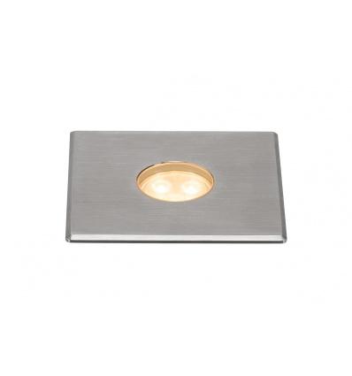 DASAR 100 PREMIUM, encastré sol, carré, 5,5W, 60°, 3000K, col inox 316