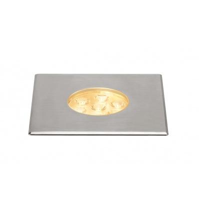 DASAR 150 PREMIUM, encastré sol, carré, 17W, 24°, 3000K, col. inox 316