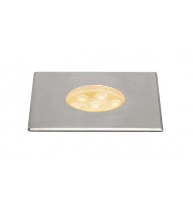 DASAR 150 PREMIUM, encastré sol, carré, 17W, 60°, 3000K, col. inox 316