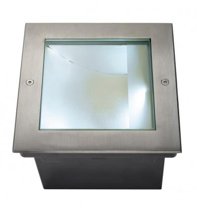 DASAR 255 LED CARRE encastré, asymétrique, inox 316, 28W, 4000K