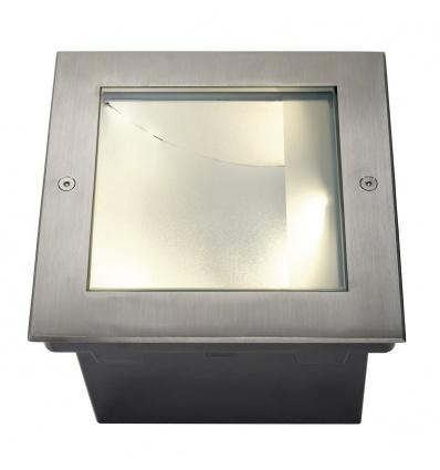 DASAR 255 LED CARRE encastré, asymétrique, inox 316, 28W,3000K
