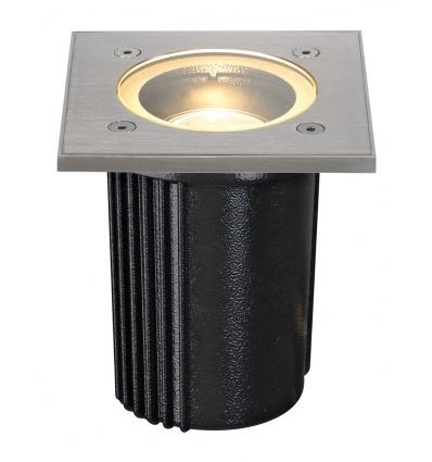 DASAR EXACT 116, GU10 encastré de sol, carré, inox 316, max. 35W, IP67