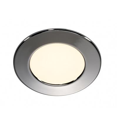 DL 126 LED, encastré rond, chrome, 2,8W LED 2700K, 12V